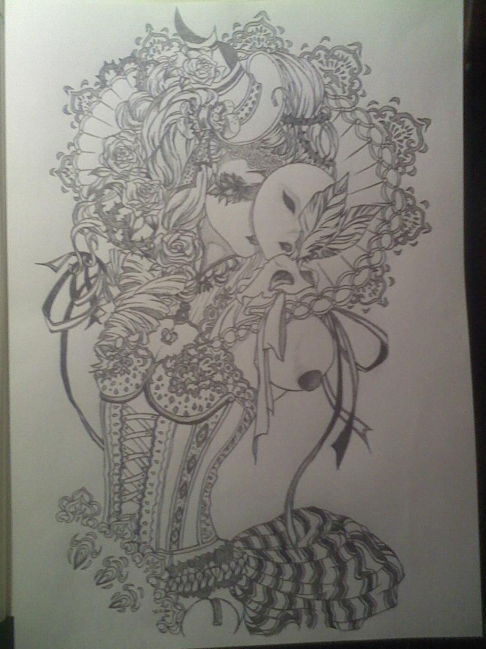 铅笔画得动漫人物,要女生, 不是素描,就是铅笔得稿子