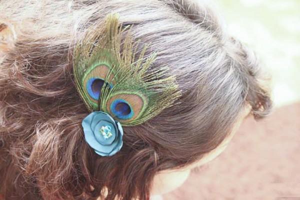 儿童手工折小动物头饰孔雀头发饰怎么做
