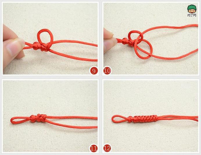 用绳子编手链,结尾怎么编啊?可以伸缩那种