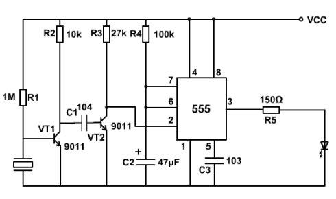 用555制作一个声控延时开关电路, 电源要用电池,希望能给出详细的资料