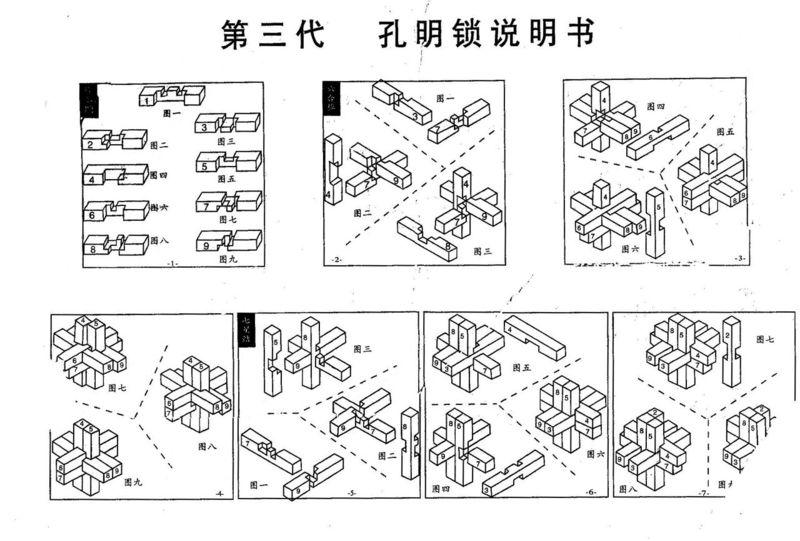 孔明锁24根解法图步骤