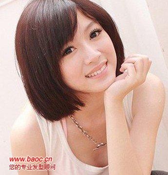 求几种女生短发发型图片(无刘海,不烫不染的)图片