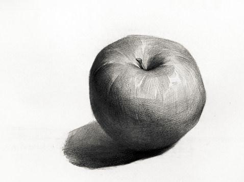 圣诞快乐,苹果素描怎么画给个思路,最好能给个图给我看看,谢谢大家了.图片