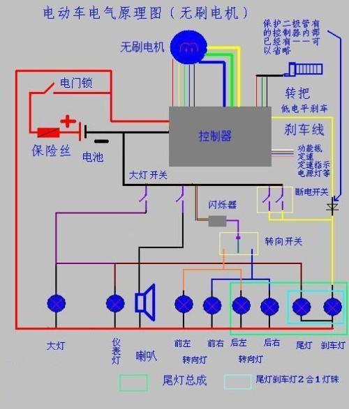 请问一下:谁有三轮电动车控制器带三个挡位那种电原理图片