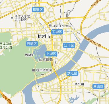 哪位高手可以帮我将以下杭州的地图按区和市划分出来图片