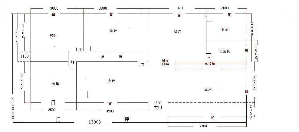 农村自建房设计图,求大神帮忙看下走廊光线问题该怎么