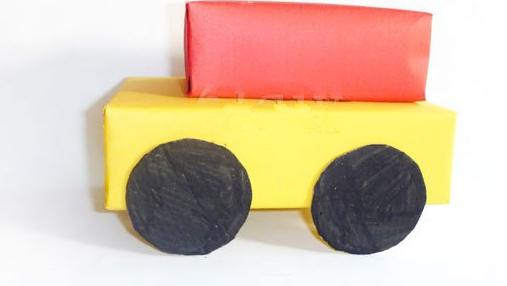 用旧纸盒怎样做小汽车