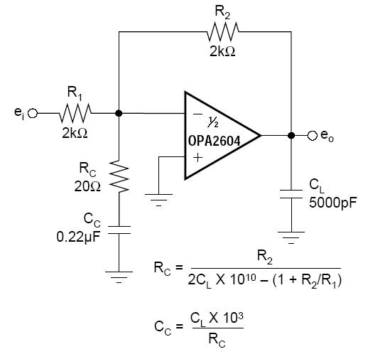 100分 求opa2604 专用 2倍放大电路图