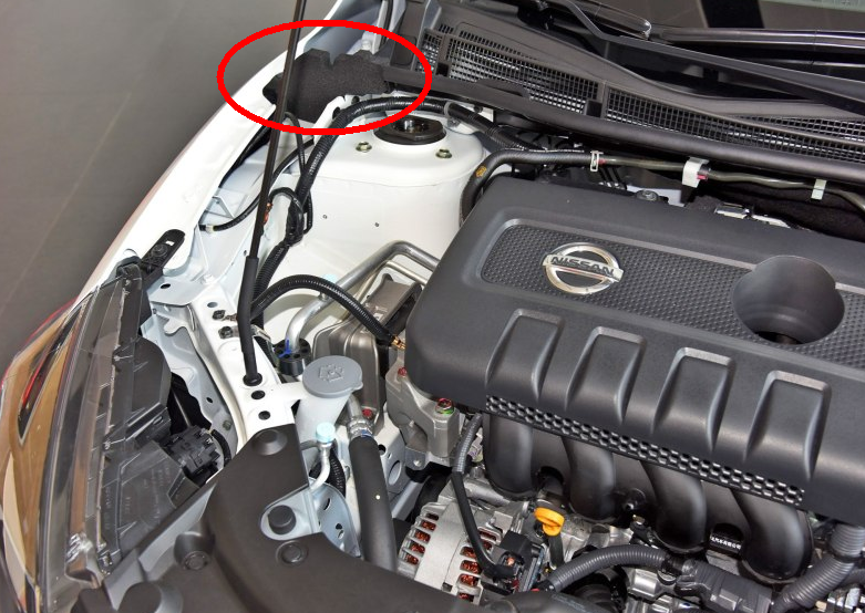 2014款新轩逸,发动机仓两侧的棉花叫什么名字.