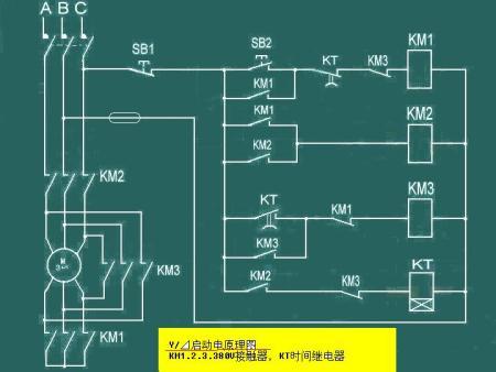 15kw电机的星三角启动的电路怎么接