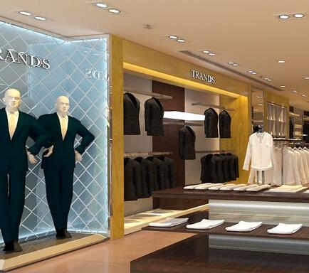服装店吧台砌砖装修效果图