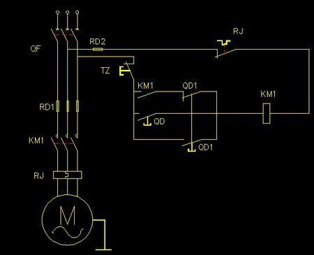 装接一台电动机作单向连续运转及带点动控制的接线视频