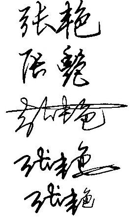 张艳艺术签名与各种字体签名怎么设计?