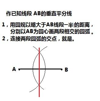 用画中垂线的方法可以得到两条相互垂直的直线 .图片