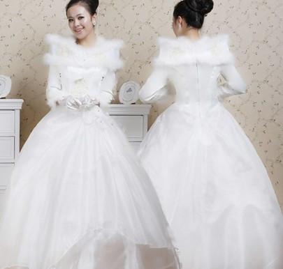 冬天穿什么婚纱求图片_百度知道图片