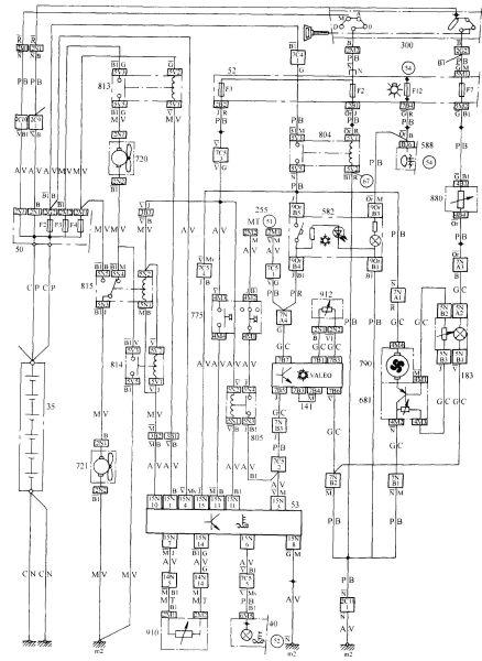 汽车空调系统的电路图是怎样的?