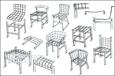 家具节点图手绘