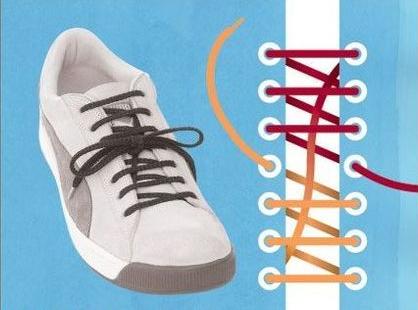帆布鞋穿鞋带方法