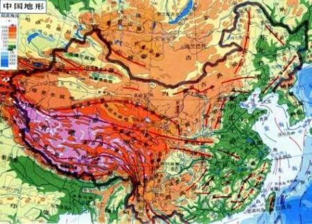 中国地形图 带经纬度那种!高清的 求图!