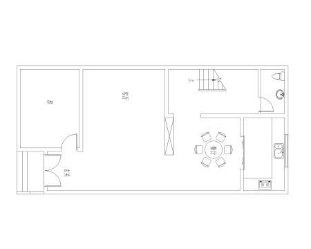 窄长条形房子设计图