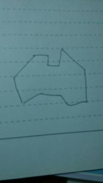 澳大利亚轮廓图怎么画