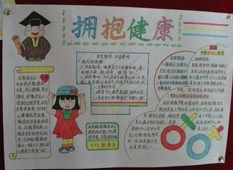 """以""""爱生活,勤锻炼""""为主题画一幅手抄报 要求:颜色鲜艳"""