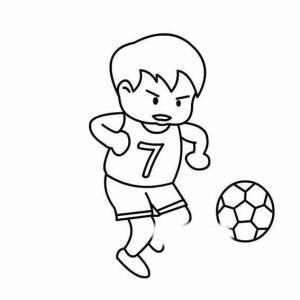 人踢足球的简笔画怎么写
