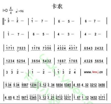 求卡农钢琴曲简易版简谱,不是五线谱,注意是简易版