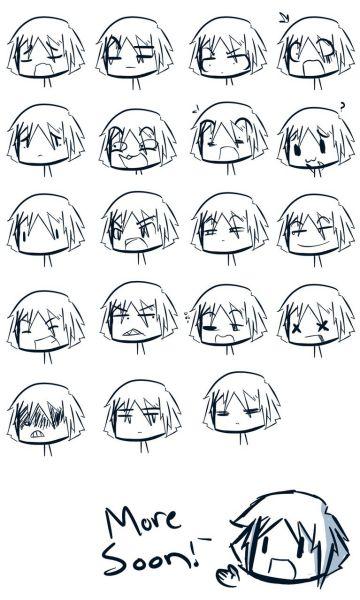 手画出来的可爱表情,要有照片哦!多一些!简笔画就好,不要太复杂!