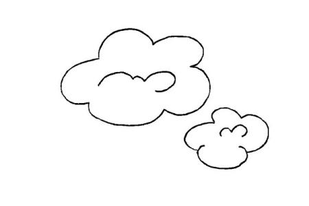 谁会画白云,给我图片