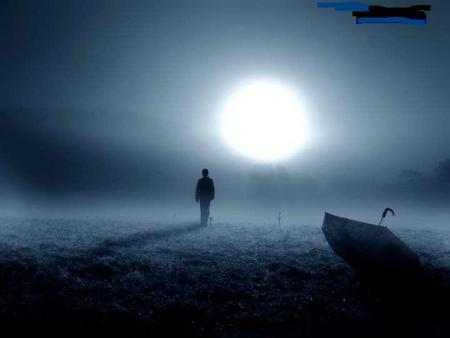 美术作品《月光下的背影》