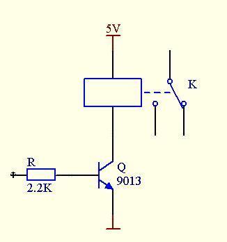 用三极管s9013驱动5v继电器电路