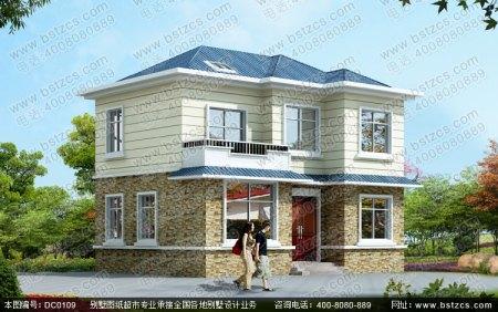 占地面积六十平方长12米宽5米别墅型房屋建盖设计图图片