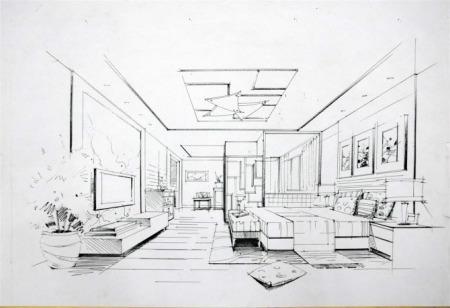 线条简,单现代风格主要在家具和玻璃制品上体现,然后就是软装配饰图片