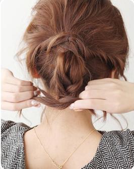 中学生发型图片女中长发编发教程图片