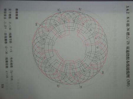 急求yd180l-6/4电动机接线图