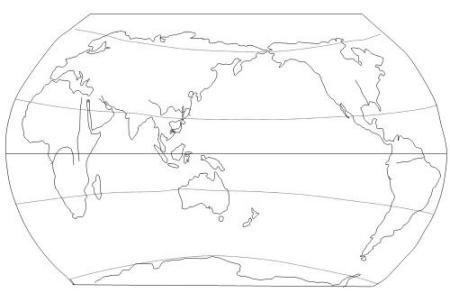 要一张黑白的,大的世界地图.图里什么都没有 只有世界