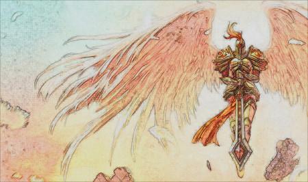 审判天使凯尔彩铅手绘
