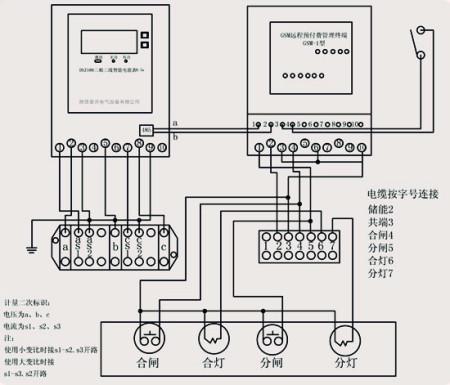 展开全部 陕西泰开电气设备有限公司预付费计量真空断路器接线原理