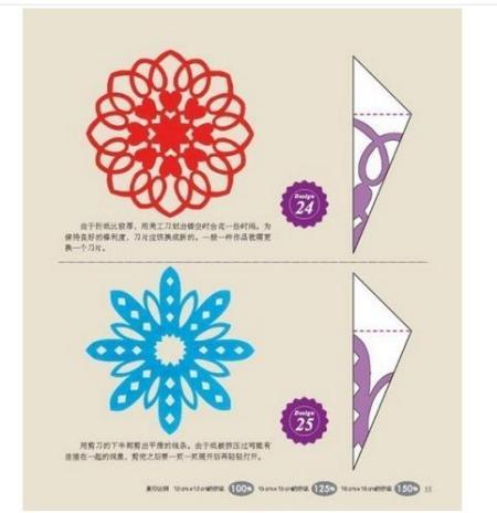 春节年俗的窗花的剪法步骤图解法