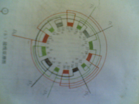 雙速電機4/6極36槽4y/3y接線圖.