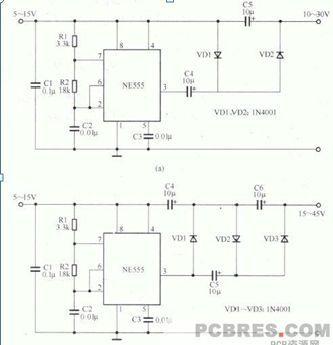 求ne555芯片驱动12v 1a以上的直流电机电路图,可以pwm