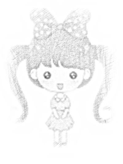 求这个可爱的小女孩手绘图片.