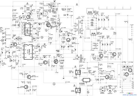 谁有夏普32g100a电源电路图或者电源电路维修方法的请