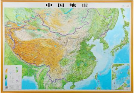 《中国地形图(3d版)》由成都地图出版社出版.
