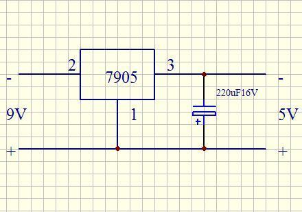 7905稳压电源电路图