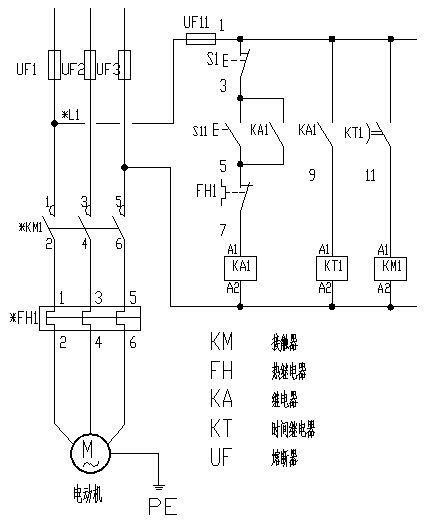 求电动机5秒延时启动电路图和原理.