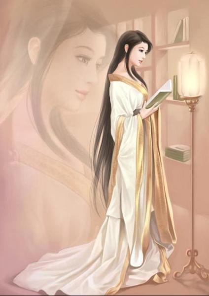 求古代美女侧影图,手绘的,大图.多多益善.