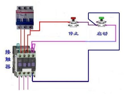 三相交流接觸器控制電機的長鎖實物圖和正反轉長鎖實物接線圖誰有?