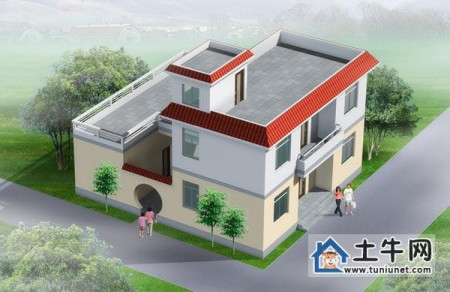 屋顶的很适合建在北方农村,带内院,厨房和杂屋跟主屋分开,二层半设计